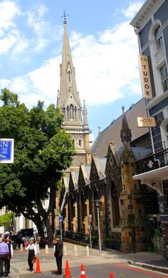 Towering over Greenmarket Square since 1871, the Methodist Church.