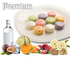 Premium Flavor Macarons  * White Truffle - luxurious mushroom flavoured macarons * Lychee Rose Martini - lychee and rose flavoured macarons with lychee bits and a dash of Vodka * Passion Sling - passion fruit flavoured macarons with mandarin orange bits and Benedictine Dom * Melontino - Japanese Musk Melon flavoured macarons with minty Vodka * Premium Japanese Yuzu - exquisite Japanese citrus flavoured macarons Product Catalogue, White Truffle, Truffles, Macarons, Martini, Vodka, Stuffed Mushrooms, Passion, Japanese
