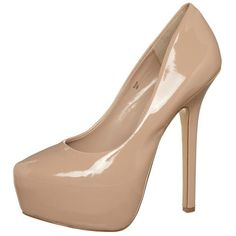 Steve Madden DAJAVU High heels (£75) ❤ liked on Polyvore featuring shoes, heels, sapatos, chaussures, high heels, beige, women's footwear, vegan shoes, steve-madden shoes and beige high heel shoes