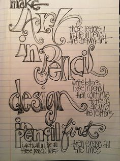 lettering lesson maybe?  joanne sharpe