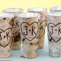 Thought these could be adorable =) Birch Vase Wedding centerpieces Rustic vase by BlissBridalWeddings Wedding Vases, Rustic Wedding Centerpieces, Chic Wedding, Perfect Wedding, Fall Wedding, Wedding Favors, Our Wedding, Dream Wedding, Wedding Decorations