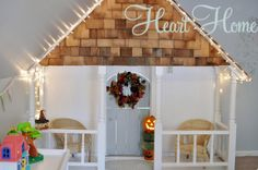 Home Tour/ this is the indoor playhouse ready for fall!