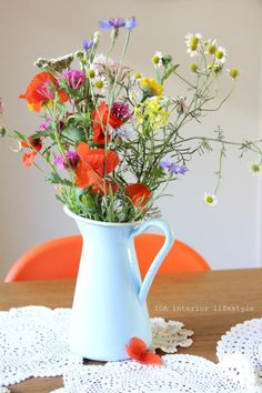 pitcher used as vase...cute