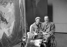 Walt and Lilly on the Mr Toad ride at Disneyland
