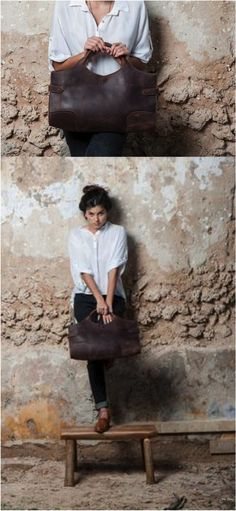 I love this bag! It's the perfect every day leather bag. | Made on Hatch.co by independent makers & designers