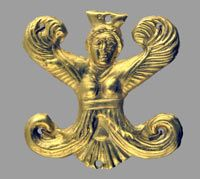 Api-shaped appliqué  4th century BCE. Place and date of finding unknown.