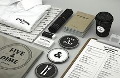 Branding with Bravo - everything is so neat and tidy, if I had a business I would love to do something like this