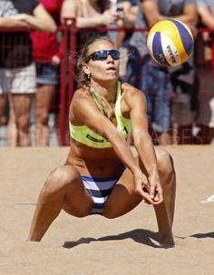 women's beach volleyball Female Volleyball Players, Women Volleyball, Beach Volleyball, Swedish Blonde, Volleyball Pictures, Sports Celebrities, Beach Ball, Woman Beach, Sport Girl