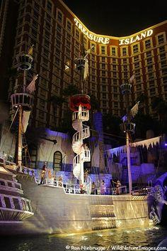 The Pirate Show at Treasure Island Hotel and Casino on the Las Vegas strip, Las…