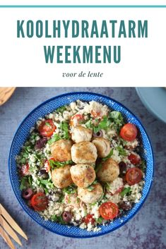 Koolhydraatarm weekmenu vol met lente recepten Low Carb Recipes, Healthy Recipes, Healthy Family Dinners, Spring Recipes, Weight Watchers Meals, Food For Thought, Salad Recipes, Good Food, Food Porn
