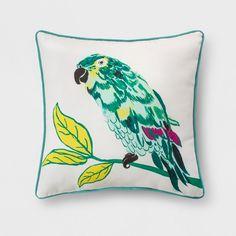 Outdoor Throw Pillow - Green & Yellow Parrot - Opalhouse™ : Target
