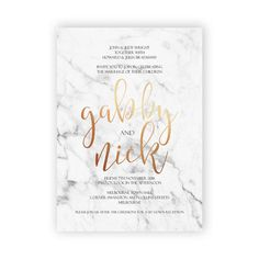 In Stone Wedding Invitation Marble Texture by UponATimePaperie