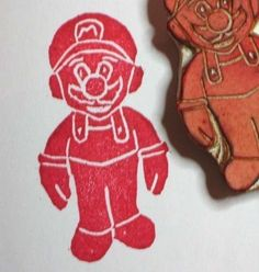 Geeky Gamer Stamp! Mario I want one!