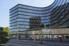 modern Office building on wiedner gürtel Street hosing many well known firms such as bausparkassen austria,erste bank and leasing,vienna city insurance,etc. with a glass exterior