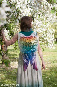 Wings-backpack Rainbow par OrangeCatMinsk sur Etsy