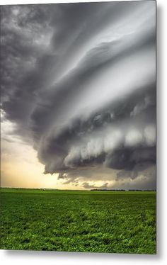 Wrath & Wonder: Photo by Douglas Berry - Shelf Cloud - Thunderstorm - This is a striated shelf cloud associated with a supercell thunderstorm near Kearney, NE in late May of Supercell Thunderstorm, Thunderstorms, Tornadoes, Weather Cloud, Wild Weather, Nature Pictures, Cool Pictures, Sky And Clouds, Storm Clouds