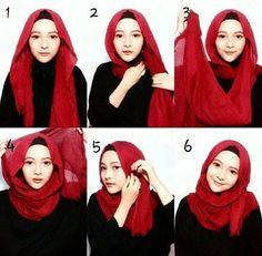 New how to wear hijab ideas tutorials head wraps ideas Square Hijab Tutorial, Hijab Style Tutorial, Scarf Tutorial, Muslim Dress, Hijab Dress, Hijab Outfit, Turban Hijab, How To Wear Flannels, How To Wear Scarves