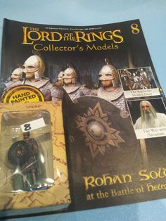 Collectors Hand Painted Lead Model Magazine LOTR Eaglemoss 8 Rohan Soldier in Collectables, Fantasy/ Myth/ Magic, Lord of the Rings/ Tolkien   eBay