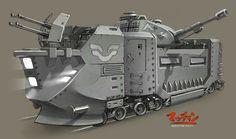 "Dieselpunk: ""Armored Train"" art by Martin Dahl"