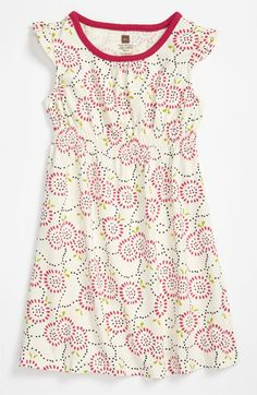 Tea Collection Flutter Sleeve Dress (Infant) | Nordstrom