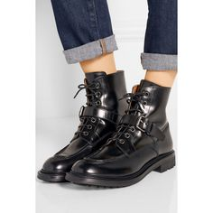 Church's Naomie leather ankle boots (590,910 KRW) ❤ liked on Polyvore featuring shoes, boots, ankle booties, lace up ankle boots, ankle boots, leather booties, black boots and lace up booties