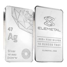 Lot of 2 - Elemetal Mint 10 oz Silver Bar .999 Fine (Sealed)
