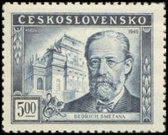 Bedřich Smetana (02/03/1824 - 12/05/1884) Classical Music Composers, People Of Interest, Stamp Collecting, My Stamp, Postage Stamps, Medieval, Antiques, Collection, Czech Republic