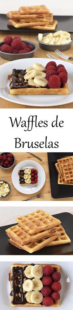 Receta para preparar waffles (belgas) estilo Bruselas, de masa de levadura.