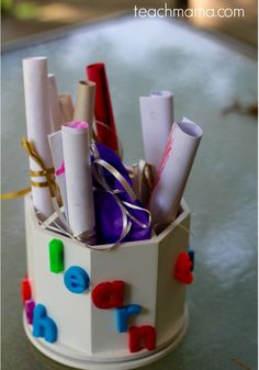teacher gifts for the last-minute parent -> Easy craft for not-so-crafty crafters from teachmama.com