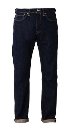M S 501 Bottom Crispy Rinse Premium Indigo by LEVI'S. A fit that's straight through the hip. With indogo color, belt loops, with stitching accent, front pockets, belt loops and patch logo. Regular fit.  http://zocko.it/LERwc