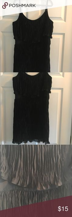 Guess black dress, size 7 Guess black dress. EUC (worn once). Size 7. (I wear a 4 and this is equivalent). Great detailing on the bust and back! See close up pictures for detail Guess Dresses Mini