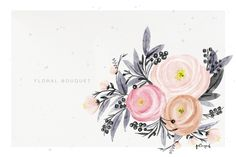 Check out Soft Flowers Bouquet by hellopoh on Creative Market