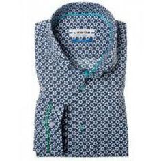 Ledub Tailored fit strijkvrij overhemd 0134315-190-565-570