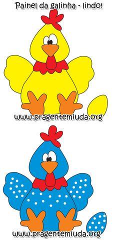Oi! Pra finalizar as atividades com a música ' A galinha do vizinho ' vim postar este lindo painel feito em EVA. Através desta atividad...
