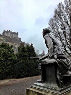 Despite the chill in the air it's still a great day for a wonder through Princes Street Gardens. Edinburgh, Chill, Greek, Gardens, Statue, Outdoor Gardens, Greece, Sculptures, Garden