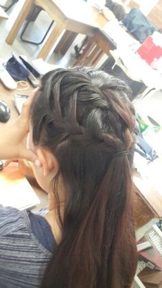 Intertwined french braid
