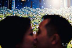 Cute Disney kiss photo - Engagement Spotlight: Christine + Anthony