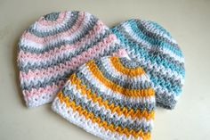 Crochet baby hat pattern crochet hat pattern by Thehobbyhopper
