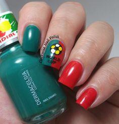 The Clockwise Nail Polish: World Cup 2014: Portugal Nails
