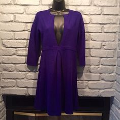 SALE❗️J. Crew sexy purple sweater dress Size small. You can choose to wear a tank top under it or not to. Beautiful purple color. Wool and cashmere blend. Not too itchy because the cashmere makes it soft. Excellent condition. Right about the knees in length I am 5'7. J. Crew Dresses Midi