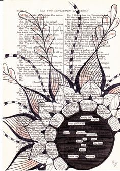Found Poetry. Use any page from any book. Highlight only words that jump out at you... love it!
