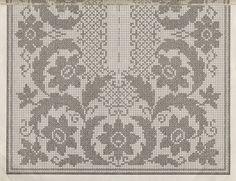 Filet Crochet Charts, Crochet Doily Patterns, Crochet Doilies, Embroidery Patterns, Cross Stitch Patterns, Knitting Patterns, Crochet Table Runner, Crochet Tablecloth, Crochet Home