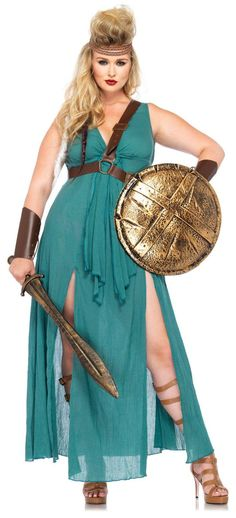 Medieval Warrior Maiden Adult Plus Size Costume from BuyCostumes.com