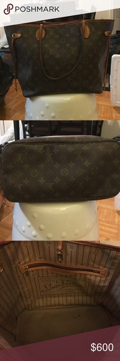 Louis Vuitton Never Full Tote Good condition with signs of wear, I.e. Handles etc. Louis Vuitton Bags Totes