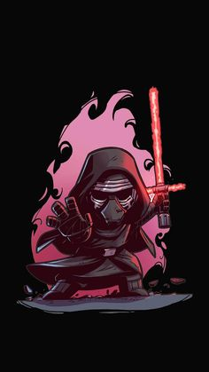 T Shirt Art, Star Wars Pictures, Star Wars Images, Star Wars Wallpaper, Cartoon Wallpaper, Cartoon Drawings, Cute Drawings, Cadeau Star Wars, Star Wars Party Games