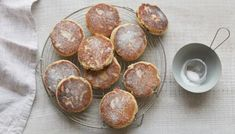 Fennel Welsh cakes with a blueberry coulis recipe - BBC Food Easy Welsh Cakes, Welsh Cakes Recipe, Welsh Recipes, British Recipes, Coulis Recipe, Honey Cake, Hot Cross Buns, Mary Berry, Gourmet