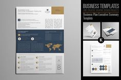Business Plan Executive Summary by Keboto on @creativemarket