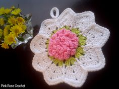 Rose Ripple Potholder