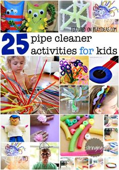 The most fun pipe cleaner activities for kids! The kids will have way too much fun learning and playing with these!