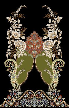 Digital Print Textiles, Textile Prints, Textile Pattern Design, Pattern Art, Border Pattern, Border Embroidery Designs, Embroidery Patterns, Creative Typography Design, Design Seeds